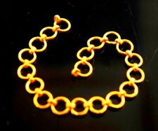 22 CARAT YELLOW GOLD 916 CHAIN LINKS LOCK FINDINGS CLASP JEWELLERY IDEAS INDIAN