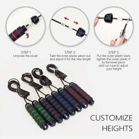 Jump Rope Tangle-Free with Ball Bearing Cable Speed Rope Skipping Rope for Exerc