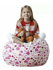 Bean Bag Stuffed Animal Storage Bean Bag Seat Stars Canvas Washable 32 Inches