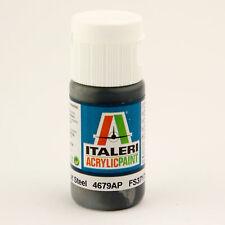 (14,25€/100ml) Italeri IT Acrylfarbe 4679 Stahl matt 20 ml Airbrush Farbe