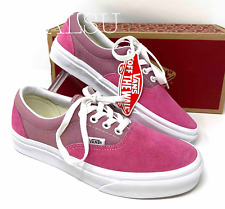 Women's Sneakers VANS ERA Retro Sport Suede Canvas Pink Red Logo VN0A4BV4VY2