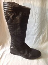 Head Black Knee High Leather Boots Size 38