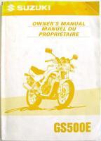 SUZUKI GS500E Original Motorcycle Owners Handbook Apr 1997 #99011-01D59-28B
