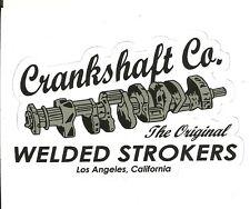 CRANKSHAFT CO. COMPANY LOS ANGELES CALIFORNIA DRAG RACING Sticker  Decal