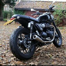 Triumph Street Twin Exhaust TEC Stainless Slip-On Silencers + Removable Baffles