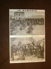 In Albania nel 1919 Festa in onore dell'Italia e banda indigena