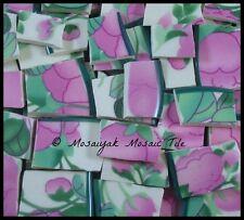 Franciscan Rose * handcut china mosaic 100+ Tile tiles