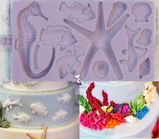 Karen Davies SEASIDE ASSESSORIES Silicone Cake Decorating Sugarcraft Mould Art