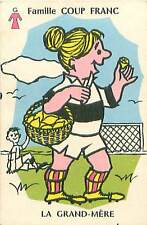 SPORT FOOTBALL HUMOUR HUMOR GRAND MERE 50s PLAYING CARD CARTE A JOUER