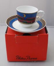 Villeroy & and Boch PALOMA PICASSO AFRIQUE espresso cup and saucer NEW BOXED