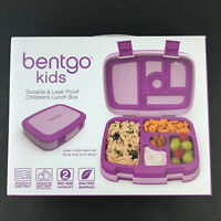 Bentgo Kids Lunch Bento Box Leak Proof Durable Compartments Purple New HG55