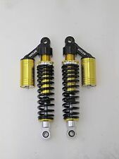 "OUTLAW CYCLE PRODUCTS GOLD HARLEY 12.5"" PIGGYBACK SHOCKS FXR SPORTSTER"