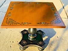 Vintage Ethan Allen Hitchcock Style Stenciled Side Accent Table