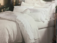 "Charisma * Jules Mini Duvet Set * King Size 106"" x 94"", Color White* Made in USA"