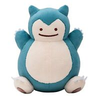 Pokemon Center Original Plush Doll Transfection Ditto(Metamon) Snorlax Japan*