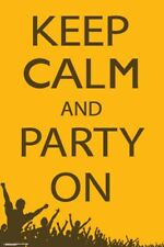 HUMOR POSTER Keep Calm and Party On