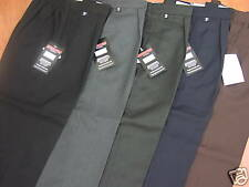 "WIDER FIT BOYS SCHOOL TROUSERS - FROM AGE 4 TO 44"" WAIST (ALL SCHOOL COLOURS)"