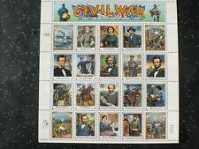 USA 1995 Block Civil War  #2975 (a-t) sheet 20 31 c- MNH