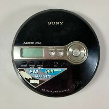 SONY D-NF340 Black CD Walkman with FM Radio and G-Protection WORKING