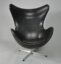 Arne Jacobsen Egg chair für Fritz Hansen in Leder 1965