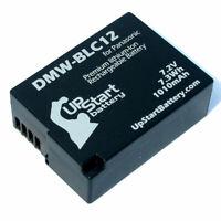 Battery for Panasonic Lumix DMC FZ200, Lumix DMC G6, DMW BLC12PP, DMC GH2K, GH2H