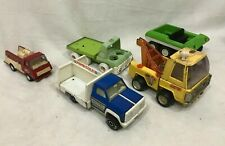Lot 5 Buddy L Ertl Tonka Pressed Steel Vintage Cars Trucks Pepsi Fire Truck