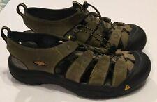 Keen Newport Gray Brown Sport Sandals Shoes Mens 10 Bungee Outdoor Fisherman