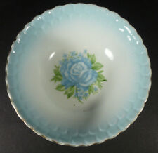 "Antique Blue Rose Wheelock Pottery 7"" Bowl"