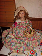"Christine Orange Helen 32"" tall porcelain doll w/coa 0577/1000 elite collection"
