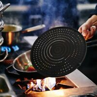 32cm Silicone Splatter Screen Guard Nonstick Oil Grease Pan Lid for Frying U5W7