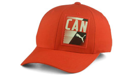 PUMA CANADA Country Flexfit Stretch Fit Red Cap Hat $30 Size S/M