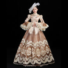Women Medieval Party Dress Renaissance Victorian Costume Gown Masquerade
