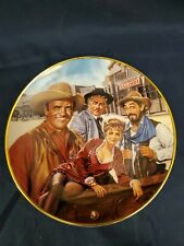 Gunsmoke Collector'S Plate Franklin Mint Royal Doulton With C.O.A. Mint!