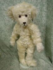 cp-1347 Handcrafted ? original Ooak Teddy Bear; 17 inches tall; white faux fur
