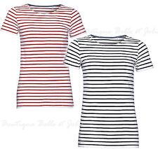 Gestreifte Damen-T-Shirts aus Baumwolle keine Mehrstückpackung