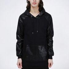 Zip Hip Length Cotton Blend Hooded Coats & Jackets for Men