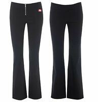 NEW MISS SASSY BLACK BOOTCUT/LEG SEXY SCHOOL STRETCH HIPSTERS TROUSERS SIZE 6-14