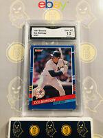 1991 Donruss Don Mattingly #107 - 10 GEM MINT GMA Graded Yankees Baseball Card