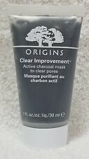 Origins CLEAR IMPROVEMENT Active Charcoal Mask Clear Pores Face 1 oz/30mL New