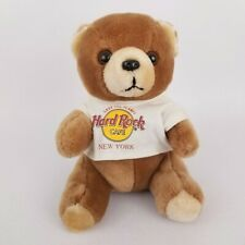 Vintage New York Save the Planet Hard Rock Cafe Teddy Bear Plush White T-Shirt