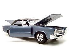 1965 PONTIAC GTO HURST ED. BLUE 1:18 SCALE DIECAST MODEL CAR BY MAISTO 31885