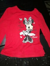 Baby Girl Infant Toddler ZEBRA Minnie Mouse Shirt pants Outfit Size 24 Months