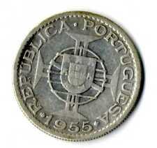 Moneda Angola Republica Portuguesa 1955 20 escudos plata .720 silver coin