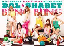 DAL SHABET-[BLING BLING] 3rd Mini Album CD+Card+Photo Book Sealed K-POP