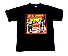 "Rob Zombie Horror Films ""Captain Spaulding"" Muder Ride T Shirt Nworn M"