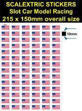 Slot Car Scalextric USA Banderas Pegatina, Calcomanía Adhesivo Vinilo Modelo RaceTrac logotipo