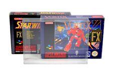 10 x GP6 SNES N64 Game Box Protectors for Super Nintendo 0.4mm PET Display Case