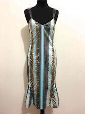 CLASS by ROBERTO CAVALLI Abito Vestito Donna Cotton Woman Long Dress Sz.S - 40