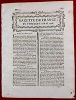 Ecosse en 1776 Glasgow Montmartre Paris Courbevoie Malte Toul La Haye Hollande
