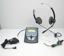 Plantronics Sp12 Binaural Nc Headset + S12 Amplifier with Ac Charger - Tested